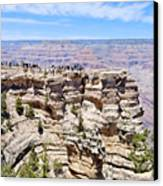 Mather Point At The Grand Canyon Canvas Print by Julie Niemela