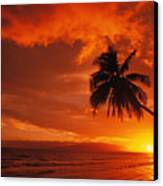 Maui, A Beautiful Sunset Canvas Print by Ron Dahlquist - Printscapes