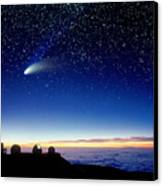 Mauna Kea Telescopes Canvas Print by D Nunuk and Photo Researchers