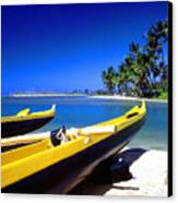 Maunalua Bay Outrigger Canoe Canvas Print