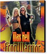 Max Hell Frog Warrior Canvas Print by The Scott Shaw Poster Gallery