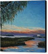 May River Sunset Canvas Print by Stanton Allaben