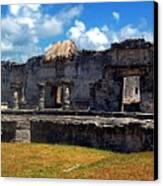 Mayan Ruins In Tulum 2 Canvas Print