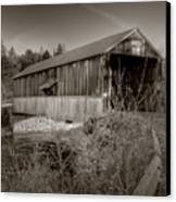 Mccann Covered Bridge  Canvas Print by Jason Bennett