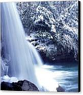 Mccoy Falls In January Canvas Print by Thomas R Fletcher