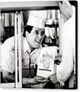 Mcdonalds Restaurant Crew Member Canvas Print by Everett