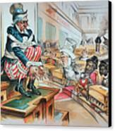 Mckinley Tariff Act, 1894 Canvas Print by Granger