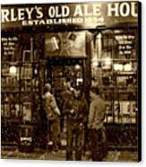 Mcsorley's Old Ale House Canvas Print by Randy Aveille