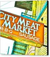Meat On The Market Canvas Print