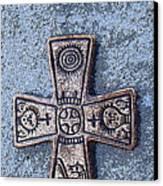 Medieval Nordic Cross Canvas Print