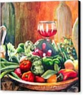 Mediterranean Table Canvas Print