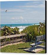 Melbourne Beach In Florida Usa Canvas Print