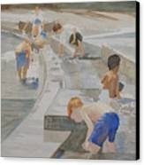 Memorial Day Waterworks Canvas Print
