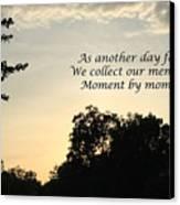 Memphis Sunset Haiku Canvas Print by Leona Atkinson