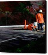 Men At Work II Canvas Print