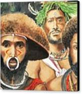 Men From New Guinea Canvas Print