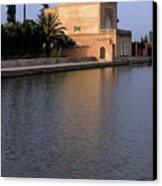 Menara Pavilion In Marrakech Canvas Print by Sami Sarkis