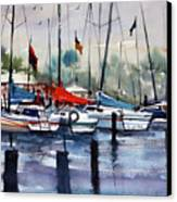 Menominee Marina Canvas Print by Ryan Radke