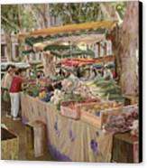 Mercato Provenzale Canvas Print by Guido Borelli