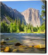 Merced River In Yosemite Valley Canvas Print by Buck Forester