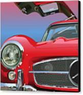 Mercedes 300 Sl Gullwing Detail Canvas Print