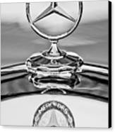 Mercedes Benz Hood Ornament 2 Canvas Print by Jill Reger