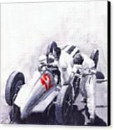Mercedes Benz W125 Rudolf Caracciola The German Grand Prix Nurburgring 1937  Canvas Print by Yuriy  Shevchuk