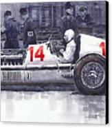 Mercedes W25c Monaco Gp 1936 Manfred Von Brauchitsch Canvas Print