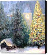 Merry Christmas From Vail Canvas Print