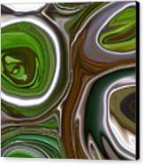 Metal Abstract Canvas Print by Linnea Tober