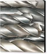 Metal Drill Bits Canvas Print by Shannon Fagan