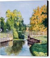 Metamora Canal Canvas Print