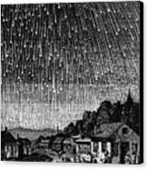 Meteor Shower, 1833 Canvas Print by Granger