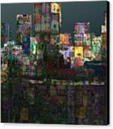 Metropolis After The Storm Canvas Print