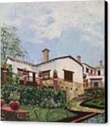 Mexican Hacienda After The Rain Canvas Print