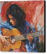Mi Gitana Canvas Print by Tina Siddiqui