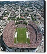 Miami Aerial Of Orange Bowl Stadium Canvas Print