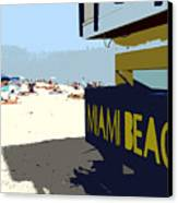 Miami Beach Work Number 1 Canvas Print