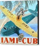 Miami-cuba Canvas Print by Glenda Zuckerman