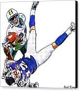 Miami Dolphins Vontae Davis And Minnesota Vikings Percy Harvin  Canvas Print by Jack K