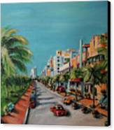 Miami For Daisy Canvas Print by Dyanne Parker