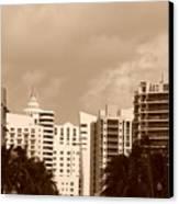 Miami  Sepia Sky Canvas Print