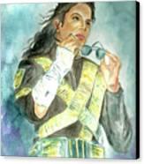Michael Jackson - Dangerous Tour  Canvas Print by Nicole Wang
