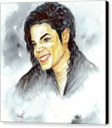 Michael Jackson - Smile Canvas Print