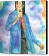 Michael Jackson - The Final Curtain Call Canvas Print by Nicole Wang