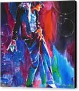 Michael Jackson Action Canvas Print by David Lloyd Glover