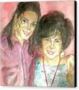 Michael Jackson And Elizabeth Taylor Canvas Print by Nicole Wang