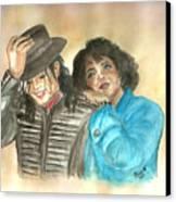 Michael Jackson And Oprah Canvas Print by Nicole Wang