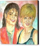 Michael Jackson And Princess Diana Canvas Print by Nicole Wang