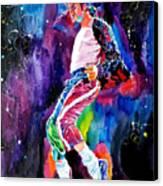 Michael Jackson Dance Canvas Print by David Lloyd Glover